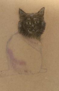 黒猫さんを描く🌺
