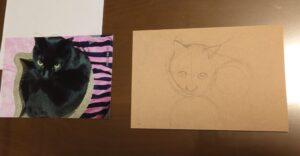 黒猫さんを描くって難しい❓🐈⬛