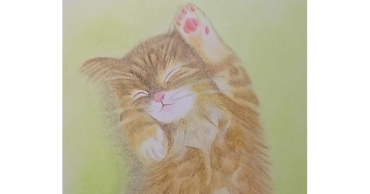「★画材道具つきで簡単スタート★オンラインで猫の絵を描こう@ケント紙」by 猫画家 まこ ストアカ