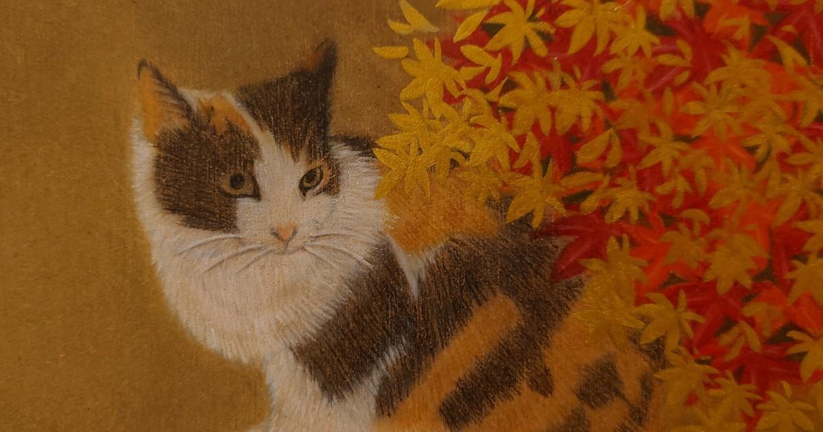 「★画材道具つきで簡単スタート★オンラインで猫の絵を描こう@木の板」by 猫画家 まこ ストアカ